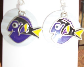 Fish can earrings