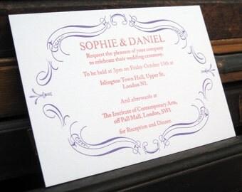 Letterpress Wedding Stationery Sample Pack - Belmont