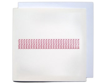 Letterpress Ornament Greetings Card - Red