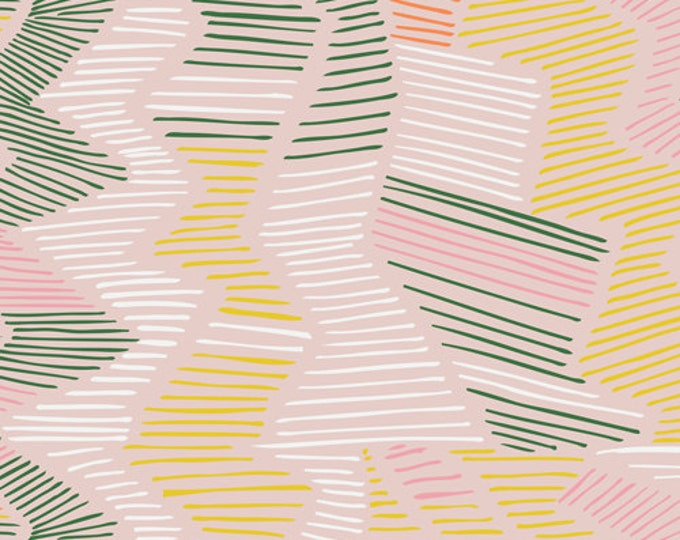 Yucca - Cenote in Pink by Cloud 9 Fabrics - Organic Cotton Voile Fabric