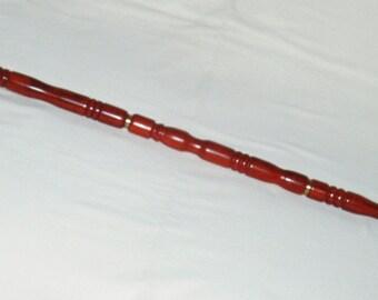 Walking Stick/Cane, Padauk  Wood, Brass Duck Head Handle