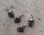 Tiny Sterling Silver Acorn Charm