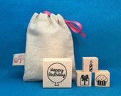 Limited Edition Little Birthday Rubber Stamp Set