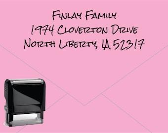 New for 2016 FREE US SHIPPING * Self Inking Return Address Stamp * Custom Address Rubber Stamp (E411)
