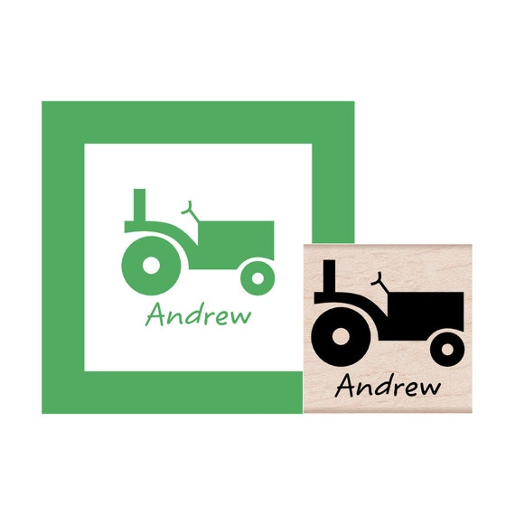 Tractor Personalized Rubber Stamp