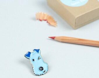 Dog Enamel Lapel Pin, Enamel Pin, Dog brooch, Dog Pin, Terrier brooch, Fox Terrier Pin, Dog Jewellery, Dog gift