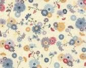 Jardin Creme 30411 11, Yardage, Mon Ami by Basic Grey, Moda, Floral, French, Grey, Red, Pale Blue, Gray, bike, Mustard, Cream, Green