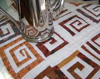 Free Form Scrappy Trails Table Modern Table Runner or Table Topper