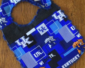 NEW...University of Kentucky Minky Baby/Toddler Bib