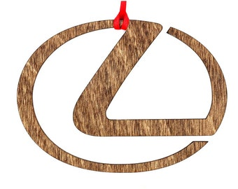 Wooden Lexus Ornament