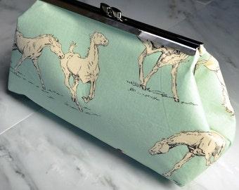 Custom Made Clutch Purse Horse, MODA, Horseshoe, Kentucky Derby