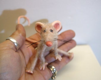 ooak little poseable  mouse ( #1 ) polymer clay art doll by DinkyDarlings elf pixie fairy faery