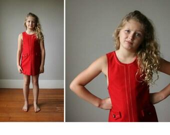 Deadstock, 1960s French Wool Jumper Dress~Size 6/7
