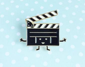 Clapboard Enamel Pin - TIFF Toronto International Film Festival clapperboard slate film movie on set lapel cute cartoon