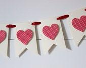 Valentine's Day Banner, Heart Banner, Valentine's Banner, Valentine's Decor - POLKA DOT