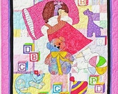 PATTERN NAP TIME Little Girl's Nursery Quilt pattern to make