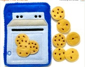 SALE Quiet activity book add on page -Blue Counting cookies baking set- educational game busy bags quiet book #53BLUE
