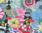 Blend Fabrics Wonderland Garden of Wonder in Blue - Half Yard