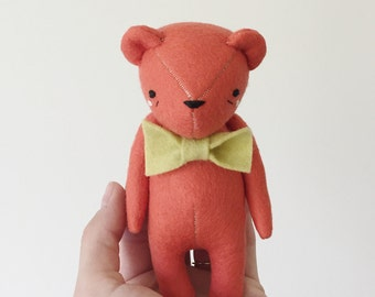 the dear ones rainbow edition | bright coral bear softie