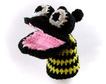 bee finger puppet template - bumble bee puppet etsy