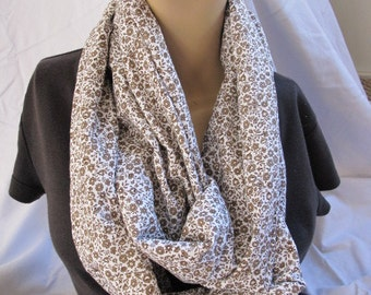Floral Print Cowl/Circle Scarf/Infinity Scarf (5544)