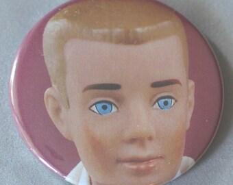 Ken pocket mirror - recycled vintage Ken Barbie