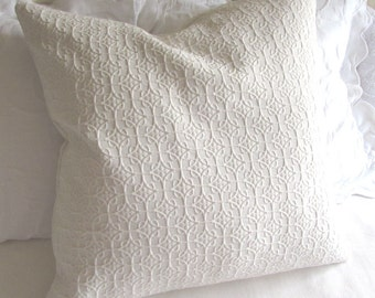 IVORY matelasse 26x26 Super Large Pillow Cover/Sham