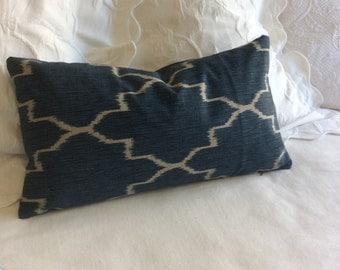 Monaco sapphire decorative lumbar pillow cover 12x22