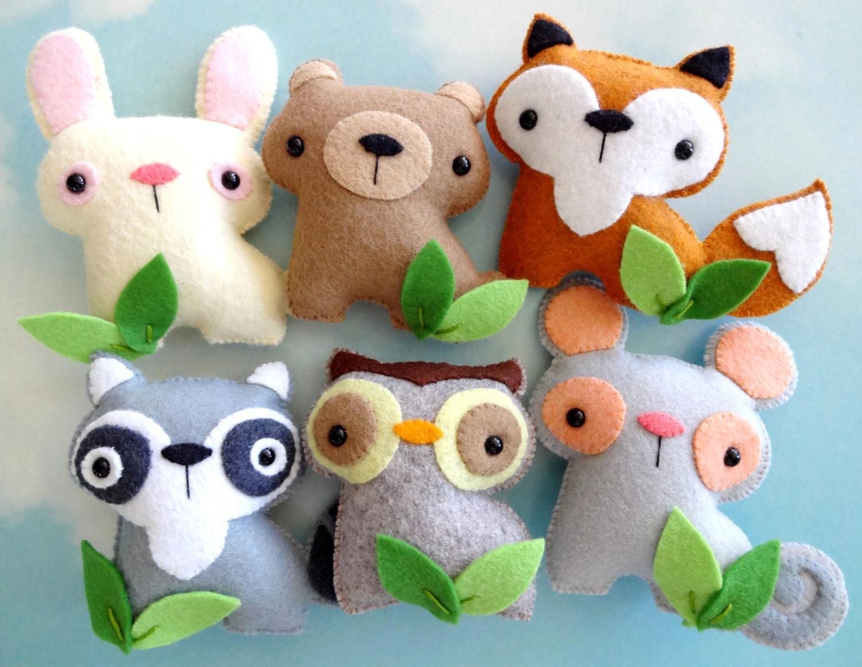 Felt Woodland Animal Toy Set Sewing Pattern Tutorial