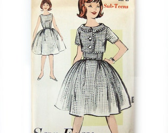Vintage Sewing Pattern 1960s Full Skirt DRESS and Cropped Jacket / Advance 2906 / Size 8S or 12S / Uncut FF