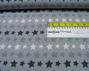 Jersey • Rainbow Stars light gray • Cotton Jersey Knit Fabric  002335