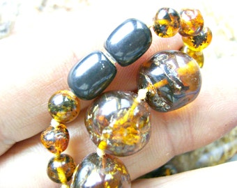 Beads, AMBER, RUSSIAN, Rare, SALE, 4-12mm, Baltic,Full Strand, Round, High Quality,Tree, Sap, I