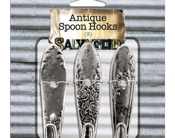 Antique Spoon Hooks (Set of 3)