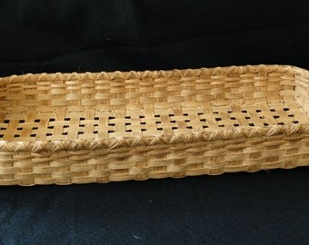 Hand Woven Basket stained with Natural Walnut.  Storage Basket.  Large wall Basket. Large Basket. Handmade baskets in traditional style.