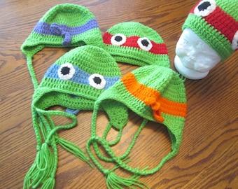 Crochet Ninja Turtle Beanie Hat