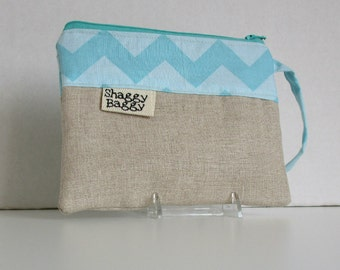 Wristlet, Clutch,  Zipper Pouch