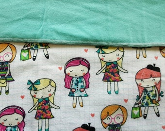 Flannel Receiving Blanket, Approximately 35 inches by 41 inches, double-thick