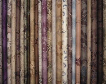 Japanese cotton prints - Diawabo and Yoko Saito floral fat quarters