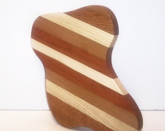Christmas Stocking Cutting Board Handcrafted from Mixed Hardwoods