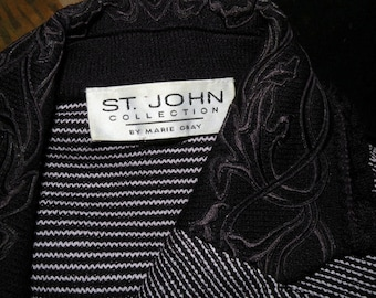 ST JOHN by Marie Gray Purple Knit Jacket M to L