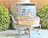 Antique Lovely.......English Silver Plate Spirit Kettle