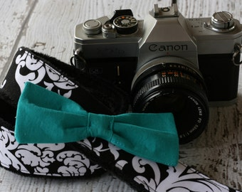 Nikon Camera Strap - Canon Camera Strap - Damask Camera Strap with Bow - dSLR Camera Strap