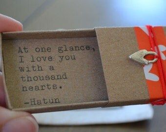 A Thousand Hearts Message Box (Hatun Quote)