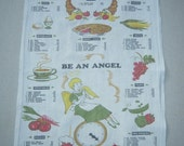 CLEARANCE SALE Vintage Towel Be An Angel & Watch Calories