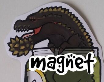 Monster Hunter - The Terrifying PickleJho - Decorative Deviljho magnet - magnetised paper