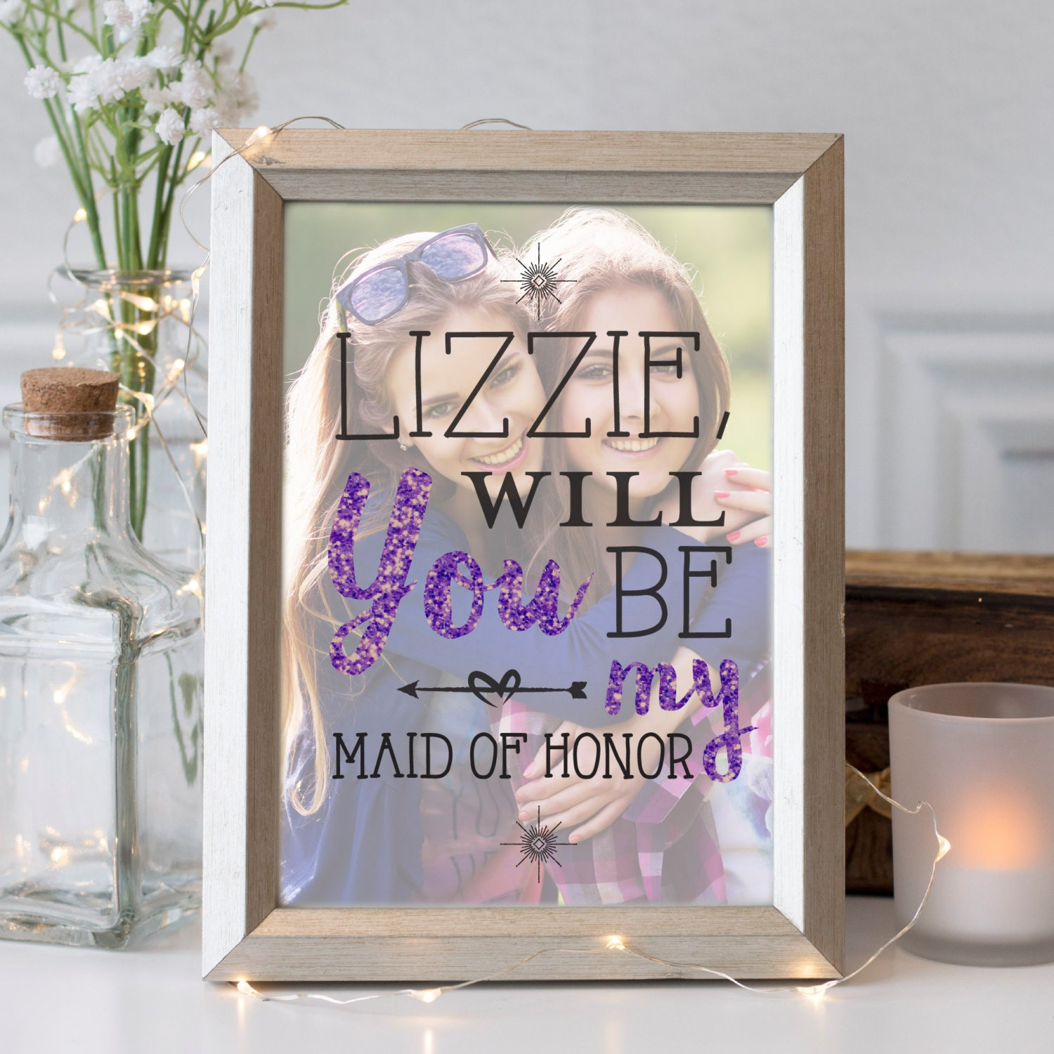 Maid Of Honor Proposal Gift Sister Gift Best Friend Photo