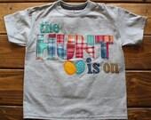 Easter Egg Hunter Shirt, Made To Order, Easter Shirt for Boys, Easter Basket Gift, Easter Egg Hunt Shirt, Spring Celebration Shirt