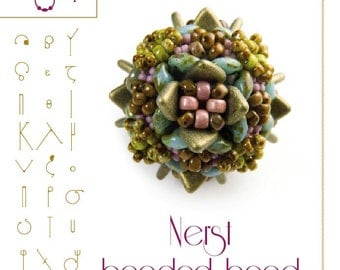Nerst beaded bead Pattern with triangle beads - PDF instruction for personal use only