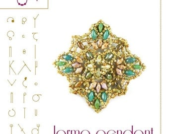 pendant tutorial / pattern Jorma with superduo.. PDF instruction for personal use only