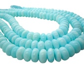 Blue Peruvian Opal Beads, Peruvian Opal Beads, Blue Opal Beads, Rondelles, SKU 5110